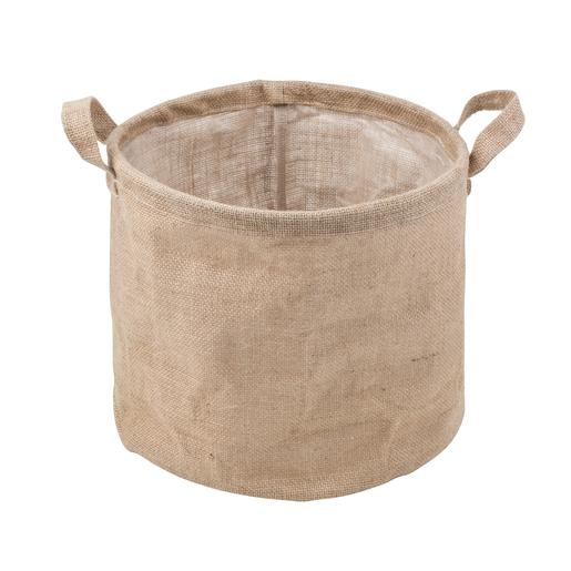 Faire un cache pot en toile de jute