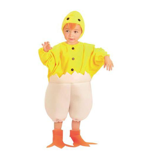 Costume Baby poussin en polyester - 92 x 104 cm - Jaune