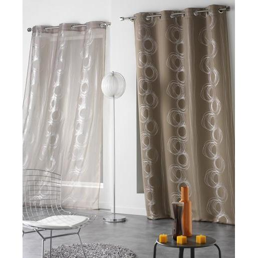 Rideau occultant - 100 % polyester - 140 x 240 cm - Marron