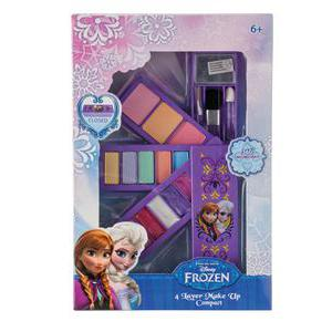 Palette maquillage Reine des neiges - Plastique - 17 x 22 x H 4,5 cm - Multicolore