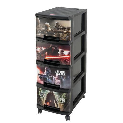 Tour de rangement 4 tiroirs Star Wars - Rangement plastique | La ...