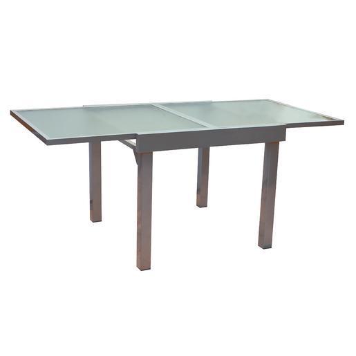Table - Aluminium - Verre - Gris - Salon de jardin | La Foir\'Fouille