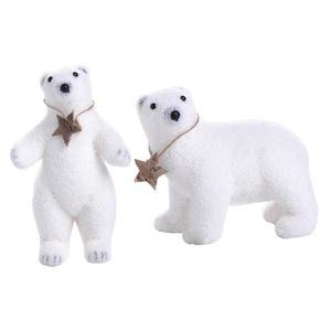 Ours - Polyester - 15 x 9 x H 13 cm - Blanc