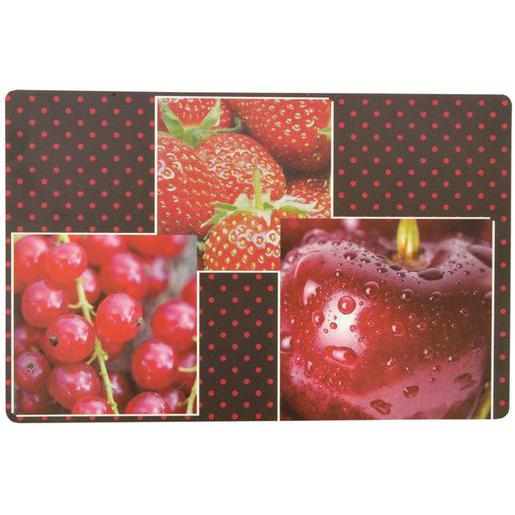 Set de table Fruits- Polypropène - 28 x 43 cm - Multicolore