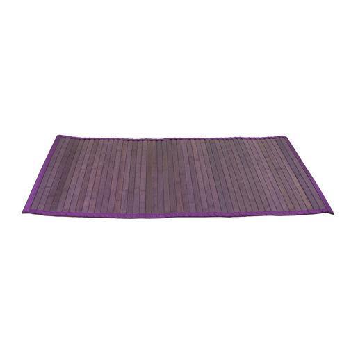 Tapis bambou - lattes de bambou - Violet aubergine - Accessoires ...