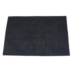 Set de table collection Slub - PVC - 30 x 45 cm - Noir