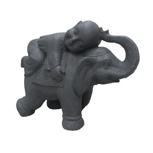 Statue éléphant et enfant - Décoration de jardin | La Foir\'Fouille