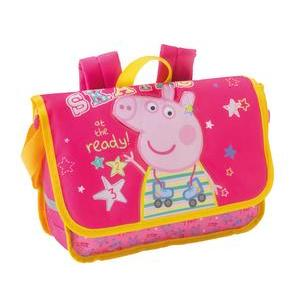 Cartable Peppa Pig - Polyester - 32 x 10 x H 23 cm - Multicolore