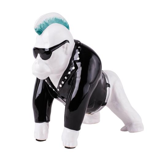 Statue gorille rock dolomite noir blanc objets for Aspirateur piscine hors sol la foir fouille