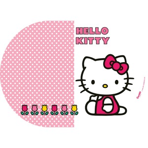 Set de table Hello Kitty Tulip en plastique - 25 x 35 cm - Multicolore