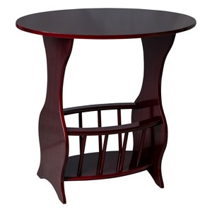 Table ovale porte-magazines - 59,5 x 38,5 x H 55,5 cm - Marron