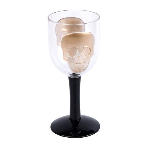 verre transparent jaune - décoration halloween | la foir'fouille