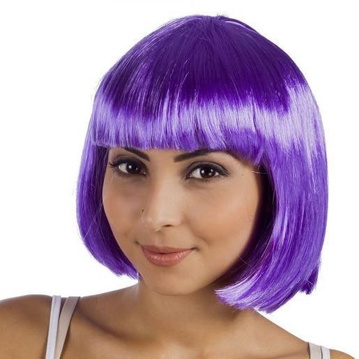 Perruque cabaret en polyester - Violet -