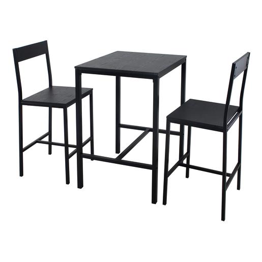 Table Et Chaises Noir Meubles De Chambre La Foir Fouille