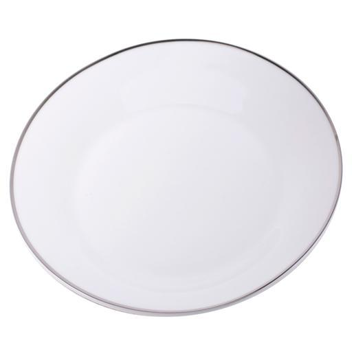 Assiette filet argenté - Porcelaine - Diamètre 27 cm - Blanc