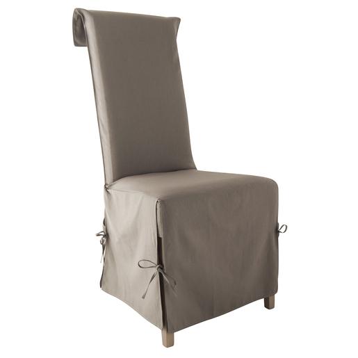 Housse Chaise En Coton 40x40x72cm Beige