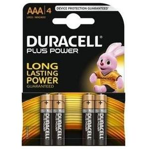 4 piles AAA Duracell Plus Power