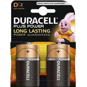 2 piles D Duracell Plus Power