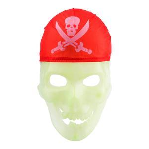 Masque pirate phosphorescent - Plastique - 8 x 15 x H 25 cm - Blanc