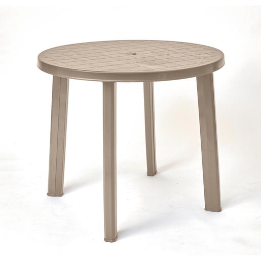 Table ronde - Marron - Salon de jardin | La Foir\'Fouille