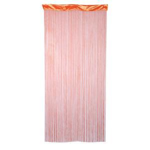 Rideau fils - Polyester - 90 x 200 cm - Orange