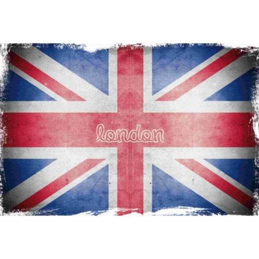Wall Picture Union Jack - 40 x 60 cm - verre minéral - Multicolore
