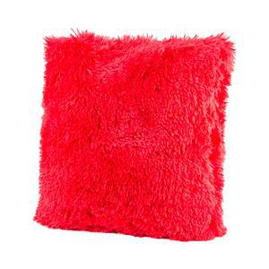 Coussin Shaggy - 100 % Polyester - 40 x 40 cm - Rouge