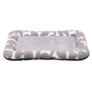 Coussin polaire pour animaux - Polyester - 90 x 58 cm - Gris ou taupe