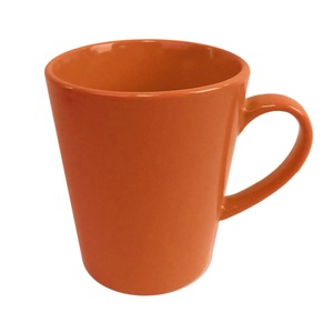 Mug conique en grès - 33 cl - Orange