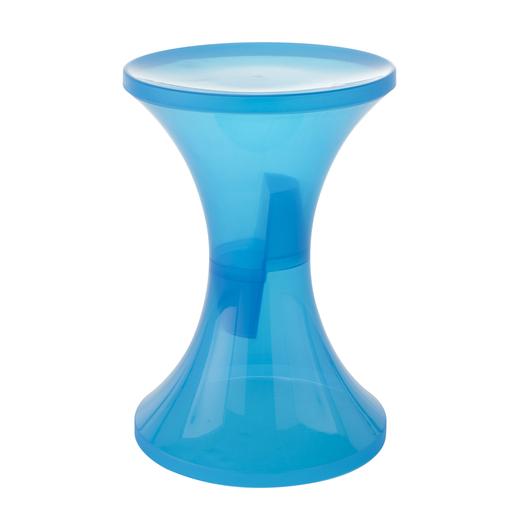 Tabouret Translucise Plastique Bleu Meubles De Salon La Foir Fouille