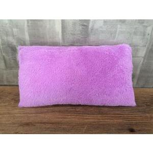 Coussin Shaggy - 100 % polyester - 50 x 30 cm - Parme