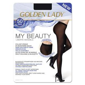 Collants opaques 50D Golden Lady - M - Noir