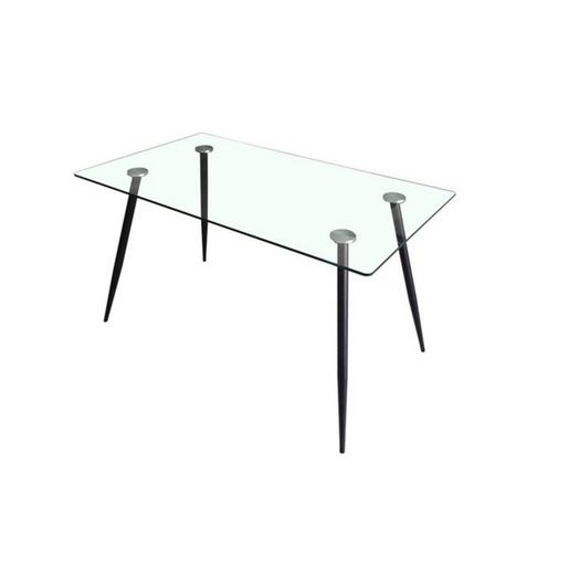 Table Transparent Noir Meubles De Salon La Foir Fouille
