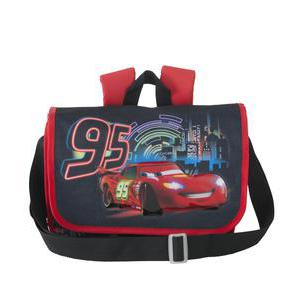 Cartable Cars - Polyester - 32 x 23 x 10 cm - Bleu et rouge