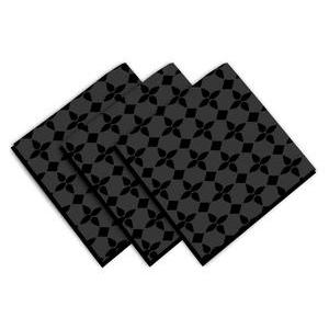 3 serviettes de table damier - 45 x 45 cm