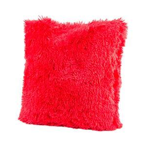 Coussin Shaggy - Rouge