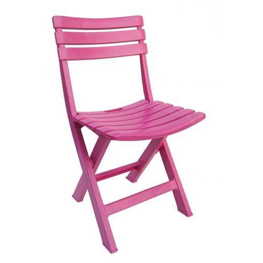 Chaise pliante - Polypropylène - Rose - Mobilier de jardin ...