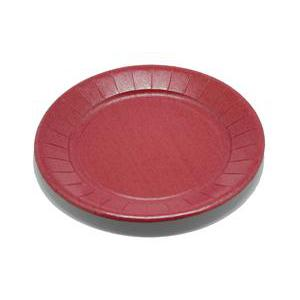 Lot de 20 assiettes - carton - diamètre - 23 cm - Rouge bordeaux