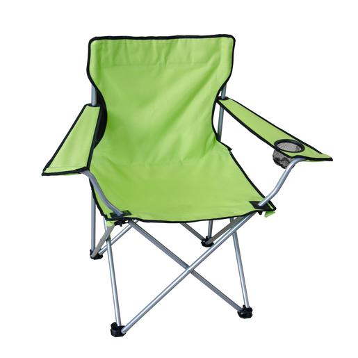 Chaise De Camping Repose Verre Acier Polyester Et Oxford