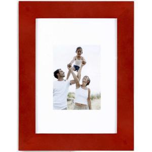 Porte-photo en optimo rouge et MDF - 22 x 17 cm - rouge
