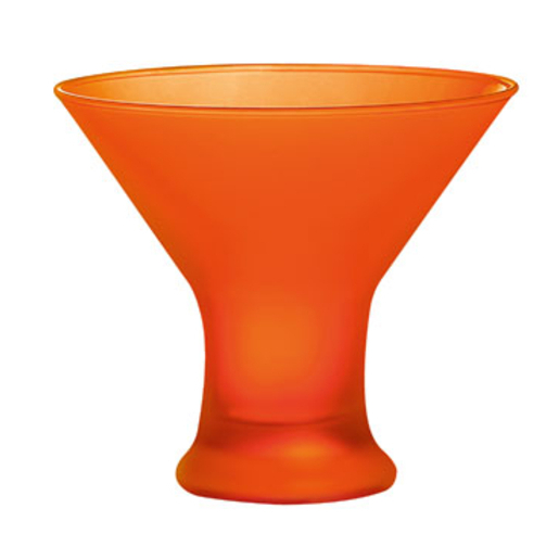 Coupe à glace Techno Colors - Verre - 12 x H 11 cm - Orange