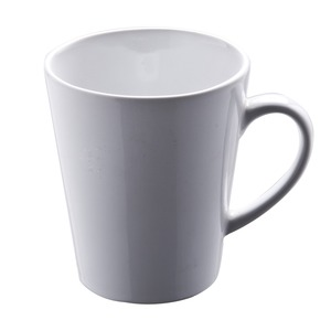 Mug conique en grès - 33 cl - Blanc