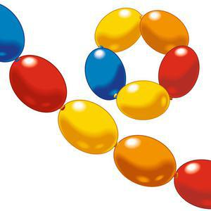 Lot de 8 ballons guirlande - Latex - 22 x 15,5 x 2,5 cm - Multicolore