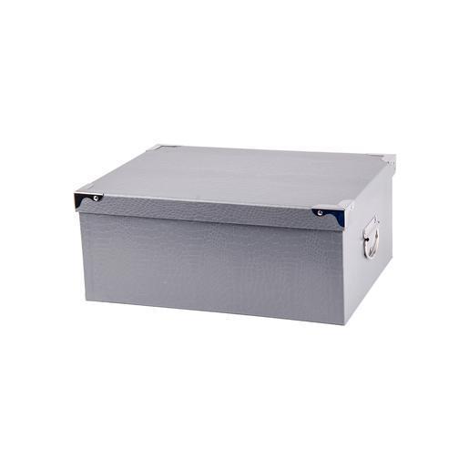 Boîte de rangement - Carton métal - Gris - Objets déco   La Foir ...