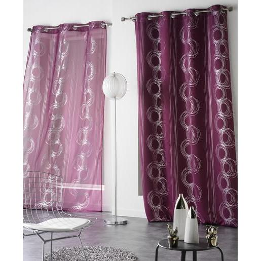 Rideau occultant - 100 % polyester - 140 x 240 cm - Violet