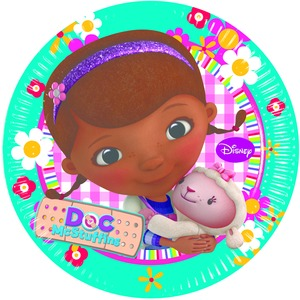 Lot de 8 assiettes Doc Mc Stuffins en carton - 23 cm - Multicolore