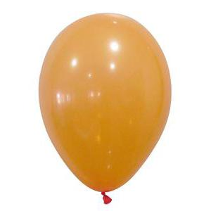 Lot de 50 ballons opaque - Latex - Diamètre 25 cm - Orange