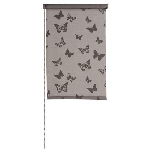 Store Enrouleur Tamisant Imprim Papillon 45 X 180 Cm Marron Taupe Stores Int Rieurs La