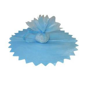 10 ronds en voile brillants - 24 cm - Polyester - Bleu
