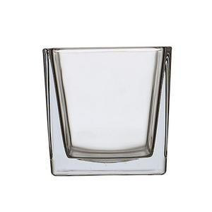 Vase carré - 10 x 10 x H 10 cm - Transparent